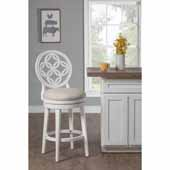 Savona Swivel Counter Height Stool, White, 23''W x 18-1/2''D x 44''H