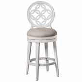 Savona Swivel Bar Height Stool, White, 23''W x 19''D x 48''H