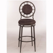 Big Ben Swivel Counter Stool in Pewter Finish and Ash Fabric, 22-1/2'' W x 22-1/2'' D x 43-1/2'' H