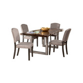 Emerson 5-Piece Rectangle Dining Table Set with Four (4) Chairs, Gray