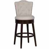 Edenwood Swivel Bar Height Stool, Cream Fabric, 19''W x 23''D x 45-1/4''H