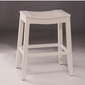 Fiddler Backless Non-Swivel Counter Stool in White, 18'' W x 12'' D x 24'' H