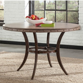 Emmons Collection Round Dining Table, Washed Gray, 48''W x 48''D x 30''H