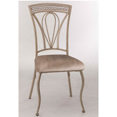 Napier Dining Chair, Set of 2, Aged Ivory & Taupe PU Faux Leather, 22-3/4''W x 19''D x 38-7/8''H