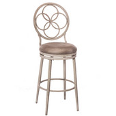 Donnelly Swivel Counter Stool, Weathered Gray Frame with Granite Fabric Seat