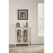 Bayside (2) Door Cabinet in Antique White Finish, 29'' W x 11-1/2'' D x 33'' H