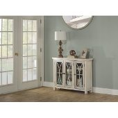 Bayside (3) Door Cabinet in Antique White Finish, 41-1/4'' W x 11-1/2'' D x 33'' H