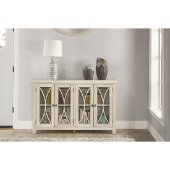 Bayside (4) Door Cabinet in Antique White Finish, 52-5/8'' W x 11-1/2'' D x 33'' H