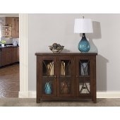 Bayside (3) Door Cabinet in Rustic Mahogany Finish, 41-1/4'' W x 11-1/2'' D x 33'' H