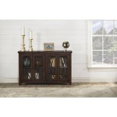 Bayside (4) Door Cabinet in Rustic Mahogany Finish, 52-5/8'' W x 11-1/2'' D x 33'' H