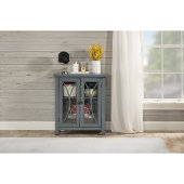 Bayside (2) Door Cabinet in Robin Egg Blue Finish, 29'' W x 11-1/2'' D x 33'' H
