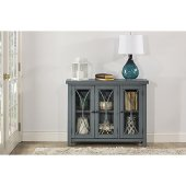 Bayside (3) Door Cabinet in Robin Egg Blue Finish, 41-1/4'' W x 11-1/2'' D x 33'' H