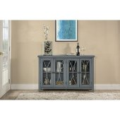Bayside (4) Door Cabinet in Robin Egg Blue Finish, 52-5/8'' W x 11-1/2'' D x 33'' H