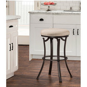 Bryce Indoor / Outdoor Backless Swivel Bar Stool, Midnight Mocha Finish