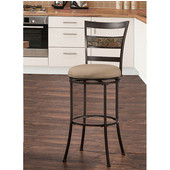 Henning Indoor / Outdoor Swivel Bar Stool, Midnight Mocha Finish