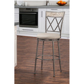 Milestone Indoor / Outdoor Swivel Counter Stool, Aged Pewter Finish
