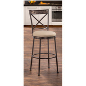 Pullman Indoor / Outdoor Swivel Counter Stool , Satin Beige Finish