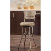 Wakefield Indoor / Outdoor Swivel Counter Stool, Champagne Finish