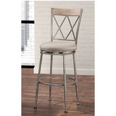 Stewart Indoor / Outdoor Swivel Counter Stool, Aged Pewter Finish