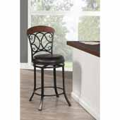 Hillsdale - Trevelian Swivel Counter Stool, 24'' W x 24'' D x 41 1/2'' H, Dark Coffee