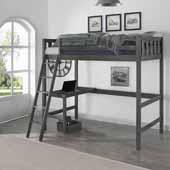 Crosswinds Kids & Teen Complete Twin Loft Bed in Wirebrush Gray, 63-1/4''W x 79-1/4''D x 69-1/2''H