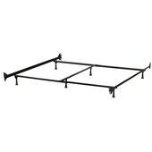 6-Leg Metal Queen/King  Bed Frame, Black, 72-1/4'' W x 83'' D x 7-3/4'' H