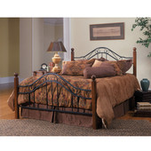 Madison Collection Queen Bed Set with Rails in Textured Black (Set Includes: Headboard, Footboard and Rails)
