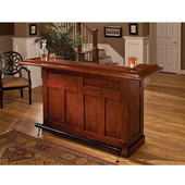 Classic Collection, Classic Large Bar in Cherry with Black Footrest, 12 Bottle Capacity, 78'' W x 26-1/2'' D x 43'' H