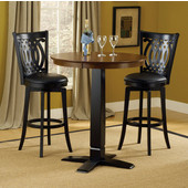 Hillsdale Dynamic Designs Pub Table, Brown Cherry & Black