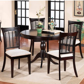 Hillsdale Dark Cherry 5-Piece Dining Set, with Four Bayberry Chairs