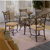 Hillsdale - Pompei Dining Chairs, Set of 2, Black Gold/Slate Mosaic