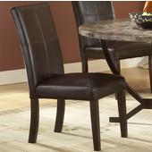 Hillsdale - Monaco Side Parson Chair - Pair, Matte Espresso
