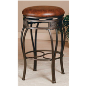 Backless Montello Swivel Counter Stool in Old Steel Finish