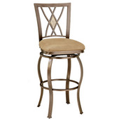 Brookside Diamond Fossil Back Counter Stool