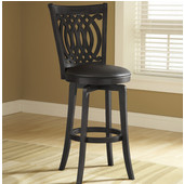 Van Draus Wood Counter Stool w/ Black Frame & Seat, Also Available in Bar Height