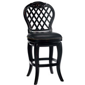 Hillsdale - Braxton Wood Counter Stool with Black Leather Seat