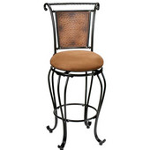 Milan Counter Stool, 20 1/2'' W x 20 1/2'' D x 41 1/4'' H, Black/Copper Accent