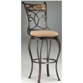 Hillsdale - Pompei Swivel Bar Stool, 20 1/2'' W x 20 1/2'' D x 48'' H, Black Gold