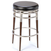 Hillsdale - Salem Swivel Counter Stool, 18 1/2'' W x 18 1/2'' D x 26'' H, Brushed Chrome