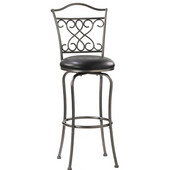 Hillsdale - Wayland Swivel Counter Stool, 17'' W x 17 1/2'' D x 38 3/4'' H, Pewter