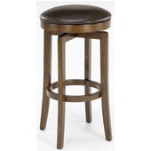 Hillsdale - Brendan Backless Bar Stool, 17'' W x 17'' D x 31'' H, Brown Cherry