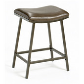 Saddle Counter/ Bar Stool with Nested Leg