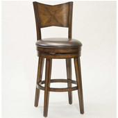 Hillsdale Jenkins Swivel Bar Stool, Rustic Oak, 20''W x 23''D x 44''H, 30-1/2'' Seat Height
