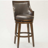 Hillsdale Lyman Swivel Bar Stool, Rustic Oak, 22''W x 23''D x 44-1/4''H, 30-1/2'' Seat Height