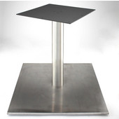 Nikai 30'' Square Table Base with 4'' Diameter Column, 28-1/5'', 34-3/4'', 40-3/4'' Heights
