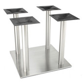 Nikai 30'' Square Table Base with Four 3'' Diameter Columns, Multiple Heights