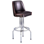 Richardson 24'' 50's Retro Bar Stool with Grade 10 Vinyl Finishes