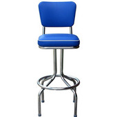 Richardson 24'' 50's Retro Bar Stool with 360° Swivel Seat in Grade 3 Vinyl Finishes