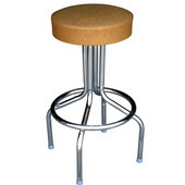 Richardson 24'' 50's Retro Backless Bar Stool with 360° Swivel Seat in Grade 10 Vinyl Finishes