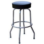 Richardson Metal Bar Counter Stool with Upholstered Grade 10 Vinyl Swivel Seat 24''